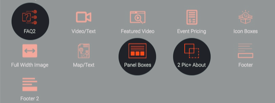 New Sections Added Menu Screenshot